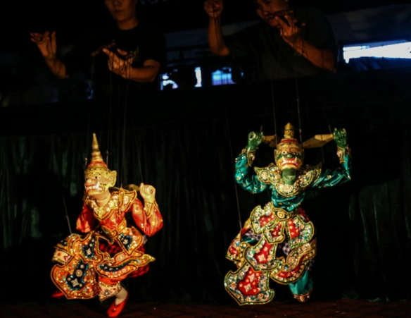 The puppetry performance of ba-lu, or ogres