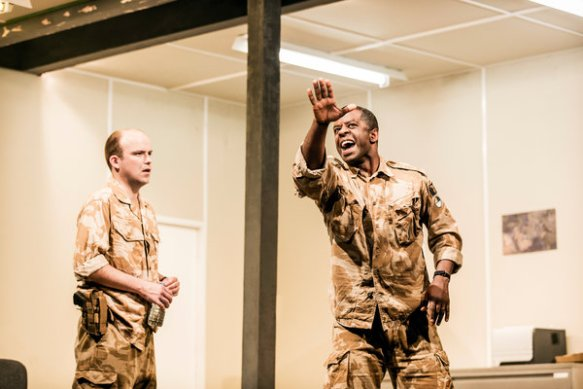 Rory Kinnear and Adrian Lester in the National Theatre's production of Othello in London