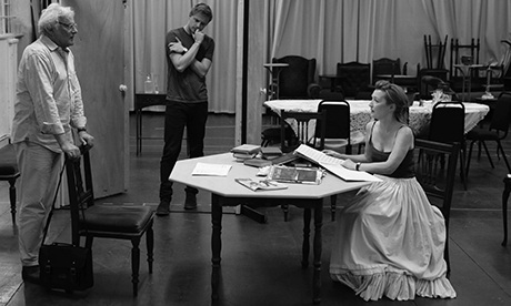 Richard Eyre (left) at a rehearsal of Ghosts