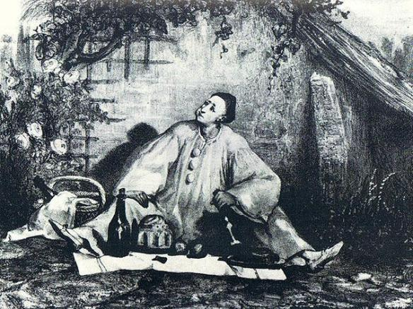 French artist Auguste Bouquet's rendition of Jean-Gaspard Deburau as Pierrot