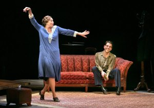 Cherry Jones, left, as a onetime Southern belle, and Zachary Quinto as her son, Tom, whose memory drives the play