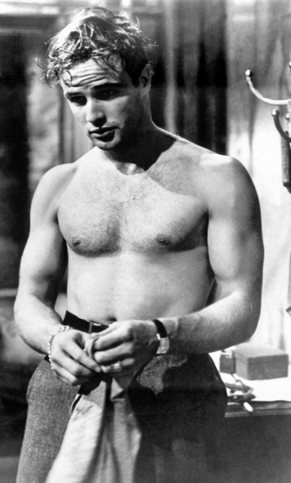 Marlon Brando as Stanley Kowalski in the 1951 film version of 'Streetcar'