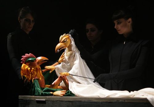 Macbeth, Lady Macbeth and puppeteers