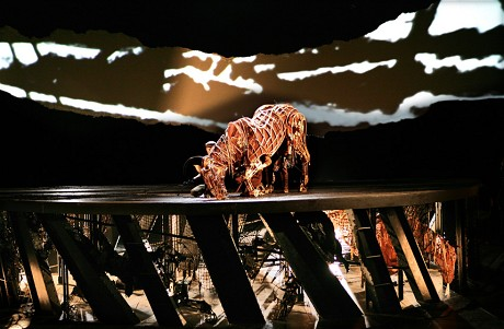 The drum revolve in action during 'War Horse'