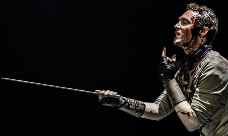 Tom Hiddleston as Coriolanus at the Donmar. Photograph: Johan Persson
