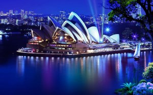 Sydney Opera House at Night Australia Digital Art By mrm