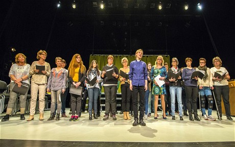 Heidi Gjermundsen Broch and The Drammen International Gospel Choir in rehearsal