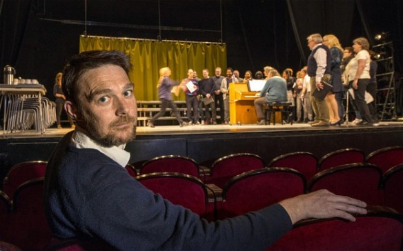 David Greig in rehearsals for the Norwegian production of The Events