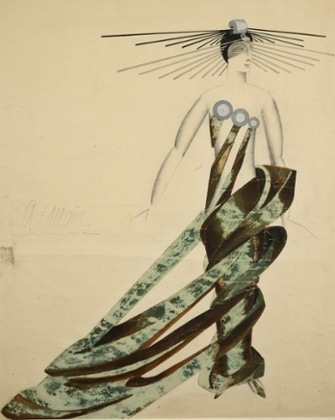 The Queen of the Martians, costume design by Alexandra Exter for the 1924 sci-fi film Aelita, based on a Tolstoy novel