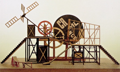 Lyubov Popova's fantastic mechanical set for The Magnanimous Cuckold, 1922.