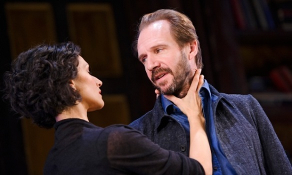 Indira Varma and Ralph Fiennes in George Bernard Shaw's Man and Superman